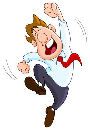 Happy zakenman Vector Illustratie