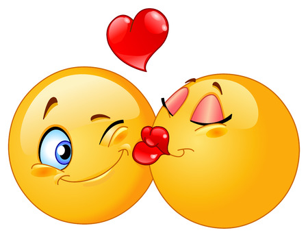 Kissing emoticons Stock Vector - 8524813