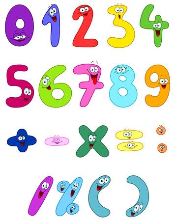 Números de dibujos animados Foto de archivo - 8524820