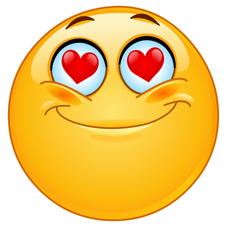 love icons: In love emoticon Illustration