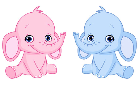 Baby elephants Vector