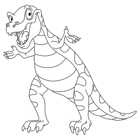 rex: Outlined dinosaur Illustration
