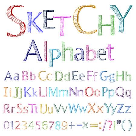tipos de letras:  alfabeto incompletos
