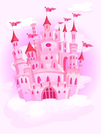 castillos de princesas: Castillo de magia en el cielo Vectores