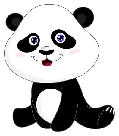 Baby panda Vector