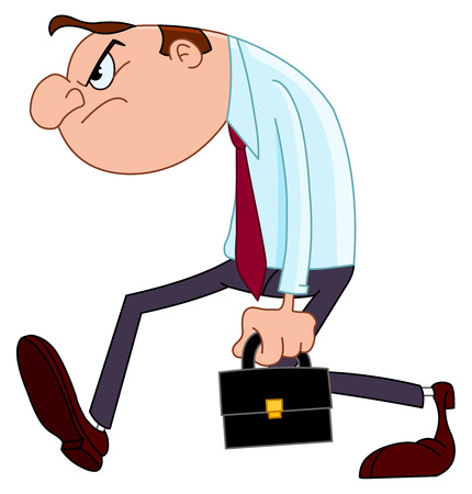 angry boss: Disappointed businessman Illustration