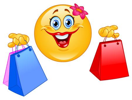 Shopping emoticon Stock Vector - 8767332