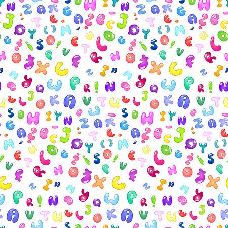 kids abc: Patr�n sin problemas de las letras de la burbuja de abc