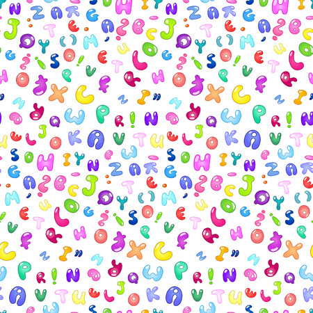 paper spell: Seamless pattern of the abc bubble letters Illustration