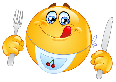 happy emoticon: Hungry emoticon