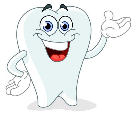 diente caries: Diente de dibujos animados