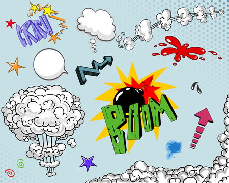 boom: Comic book elements