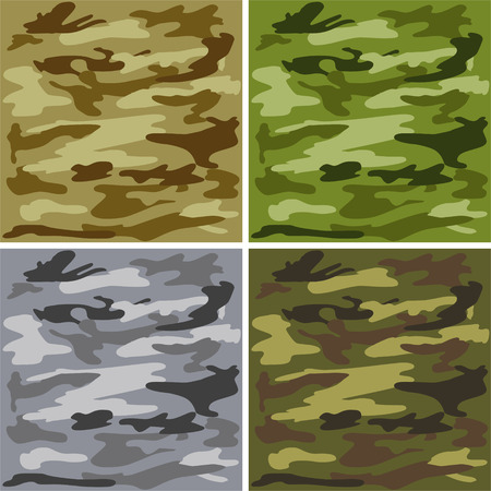 Camouflage pattern Stock Vector - 8845721
