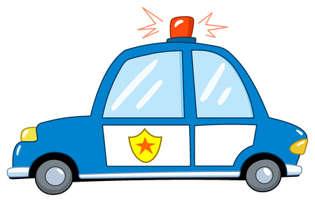 police cartoon: Police car cartoon