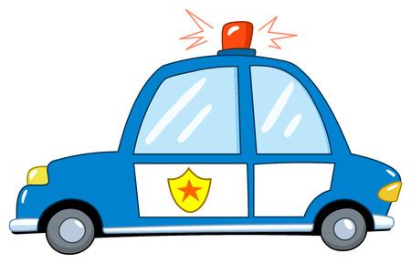 cartoon police officer: Police car cartoon