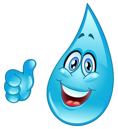 gota agua: Caricatura de gota de agua Vectores
