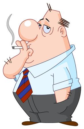 Hombre de fumar