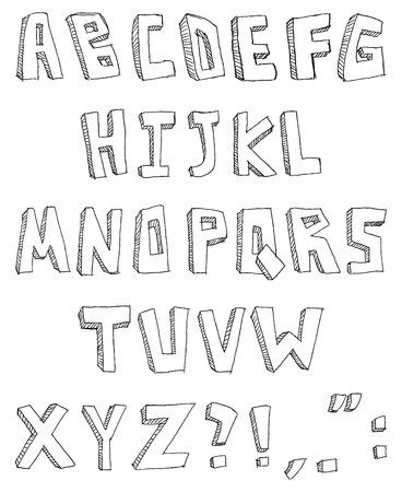 Vector hand drawn alphabet Vector