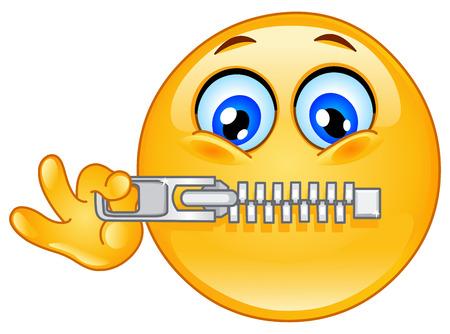 Emotikon kompresowania formatu zip zawiera jego usta