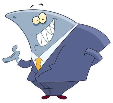 Business shark Vector