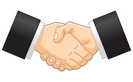 handshake business: Apret�n de manos de negocio Vectores