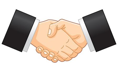 hands joined: Business handshake Illustration