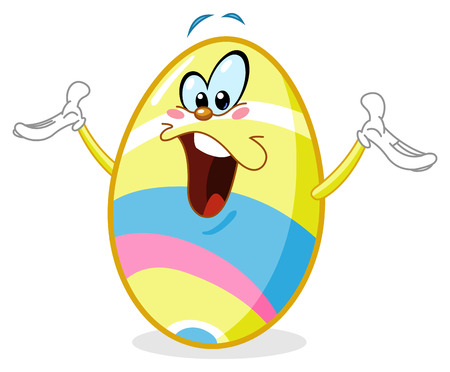 Cheerful easter egg Vector