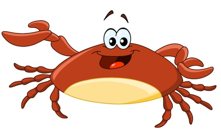 crab cartoon: Cartoon crab