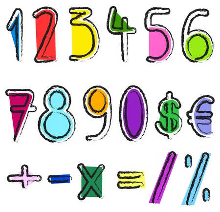 Artistic numbers Vector