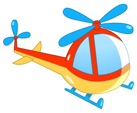Helicopter cartoon Vector