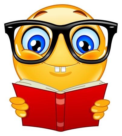 study icon: Icono gestual nerd