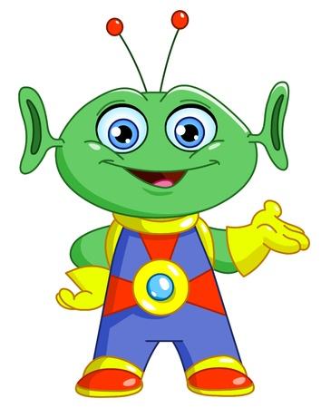Friendly alien Vector