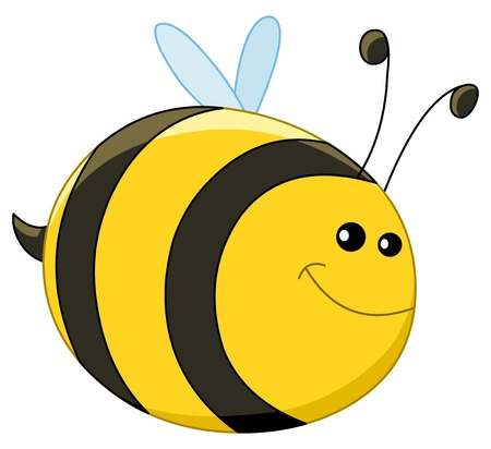 bees: Baby bee Illustration