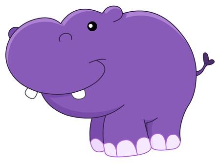 Baby hippo Vector
