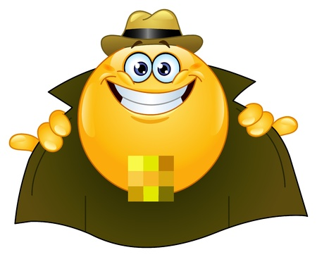 Flasher emoticon Stock Vector - 9429279