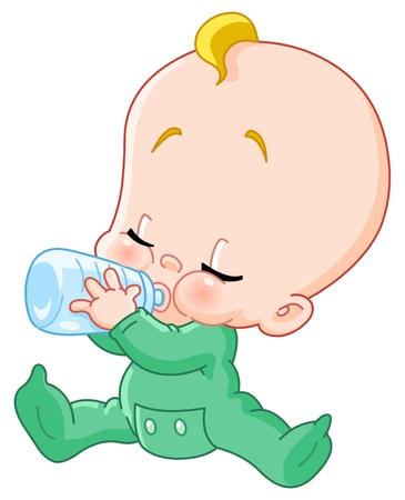 Botella de bebida de bebé