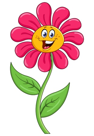 Cartoon flower Ilustracja