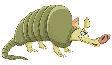 the banded: Cheerful armadillo Illustration