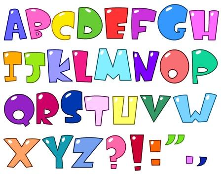 czcionki: Alfabet kreskówki Ilustracja