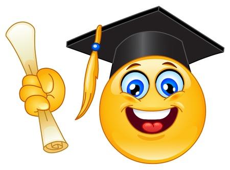 absolwent: Podziałka emotikon Ilustracja