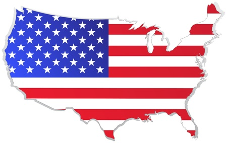 usa map with flag Stock Vector - 9681188