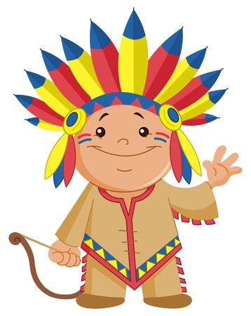 apache: Hola agitando indio kid