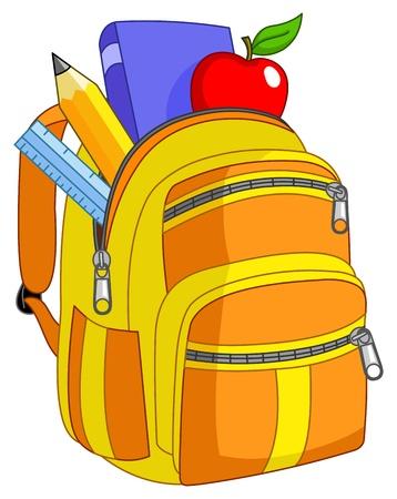School backpack Stock Vector - 9920738