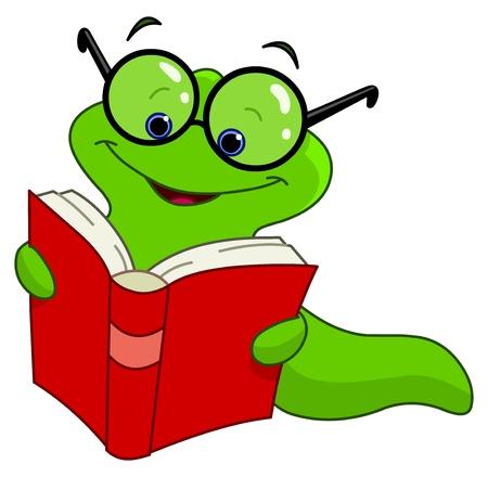 small reptiles: Worm libro Vettoriali