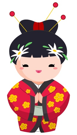 Japanese kimono girl: Cô gái Nhật Bản