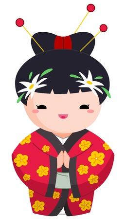 Japanese girl Stock Vector - 10163229