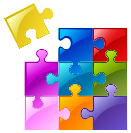 puzzle: Colorful puzzle Illustration