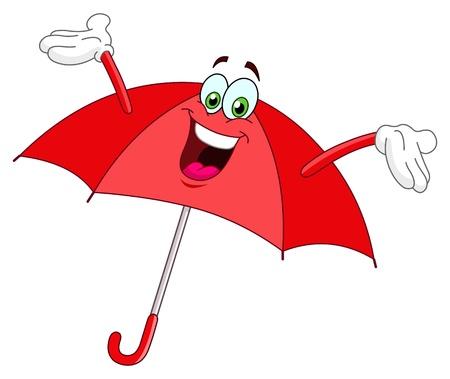 personnage: Bande dessinée Umbrella Illustration