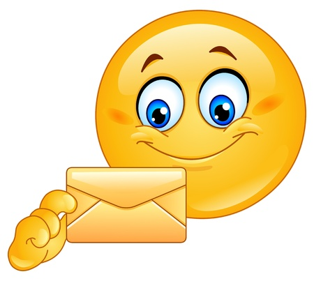emoticon: Emoticon with envelope Illustration