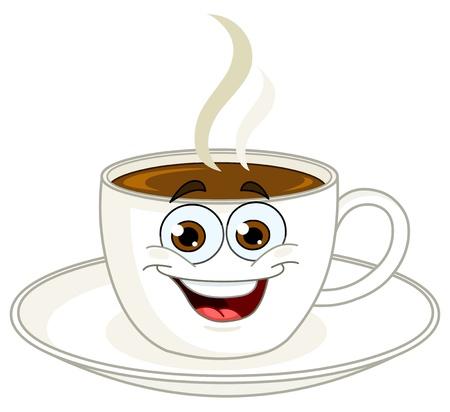 kroes: Koffiekopje cartoon Stock Illustratie